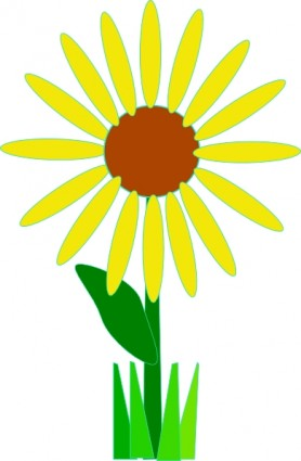 Simple flower clipart at getdrawings free for personal use 278x425 simple yellow flower clip art download mightylinksfo