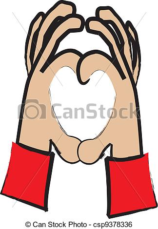 324x470 Heart Hand Shape. Simple Cartoon Drawing Of Two Hands Clip Art