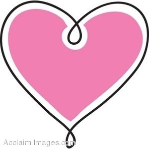 300x300 Pink Simple Heart Outline Clipart Collection