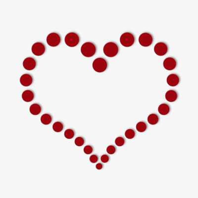 400x400 Simple Heart Shaped Decorative Border, Red, Dot, Simple Border Png