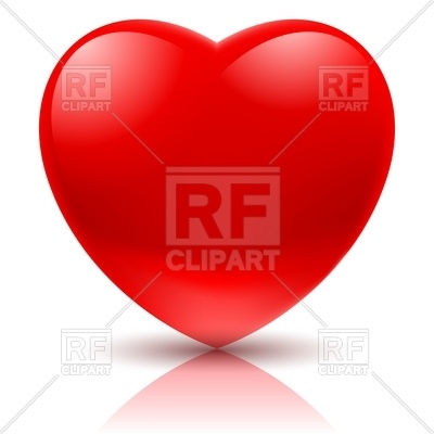 400x400 Big Red Heart Simple Icon Royalty Free Vector Clip Art Image