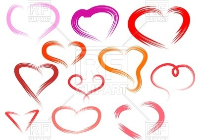 400x283 Simple Hearts Isolated On White Background Royalty Free Vector