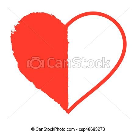 450x436 Vector Illustration Of The Simple Heart On White Vectors