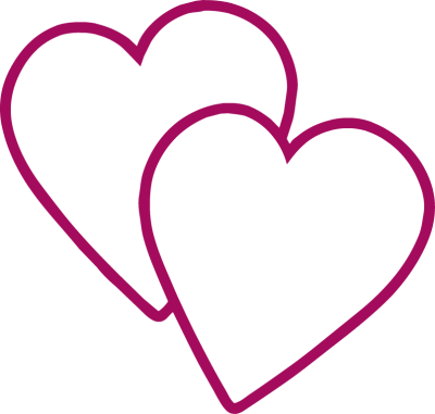 400x381 New Double Heart Clipart