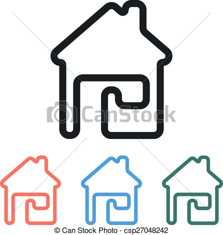 446x470 Vector Simple House Home Icon. Simple House Home Icon, Eps