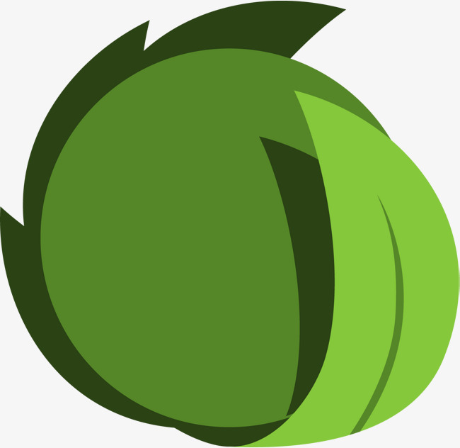 650x632 Green Simple Leaf Circle, Green, Simple, Leaves Png Image