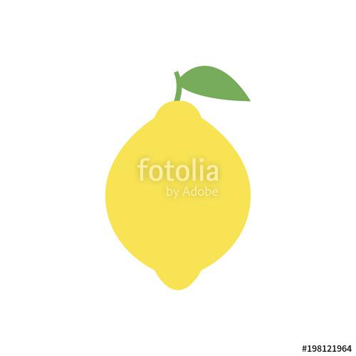500x500 Lemon Icon, Simple Design, Lemon Icon Clip Art. Clipart Cartoon