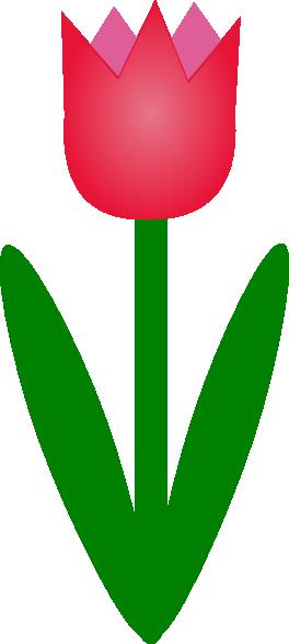 264x587 Simple Cartoon Tulip Png, Svg Clip Art For Web