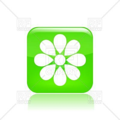400x400 Simple Flower Icon Royalty Free Vector Clip Art Image