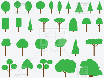 400x300 Simple Green Trees Royalty Free Vector Clip Art Image