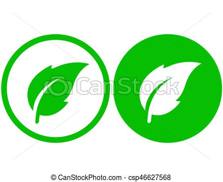 450x367 Simple Leaf Icon. Two Simple Natural Green Leaf Icons In Clip