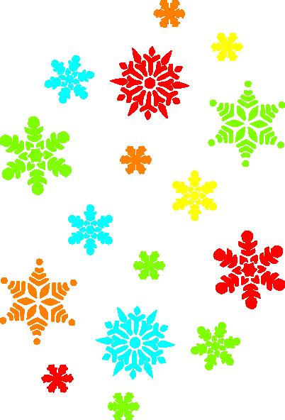 402x592 Colorful Snowflakes Clip Art