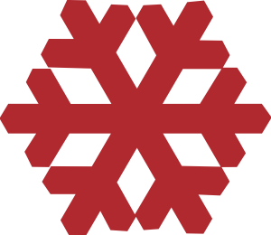 300x260 Red Snowflake Clipart Red Snowflake Clip Art
