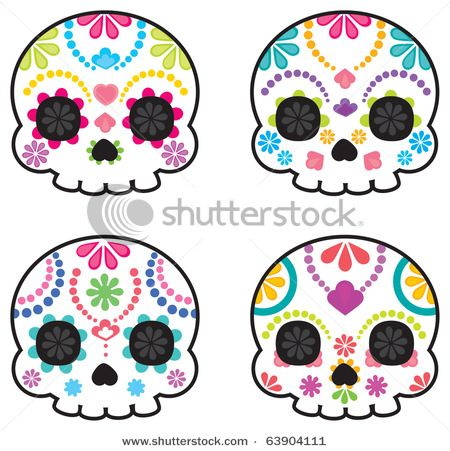 Simple Sugar Skull Clipart