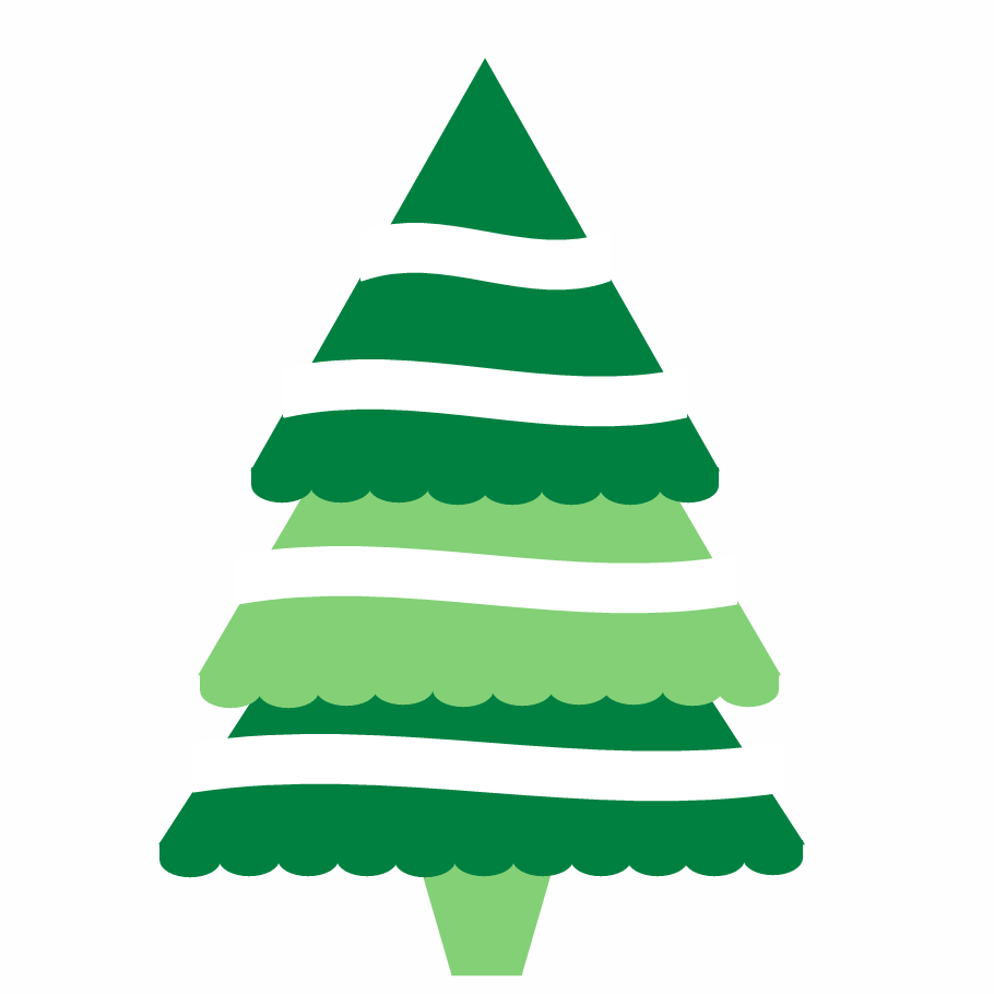 910x910 Simple Christmas Tree Clipart