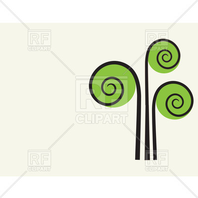 400x400 Stylized Simple Tree With Curls Royalty Free Vector Clip Art Image