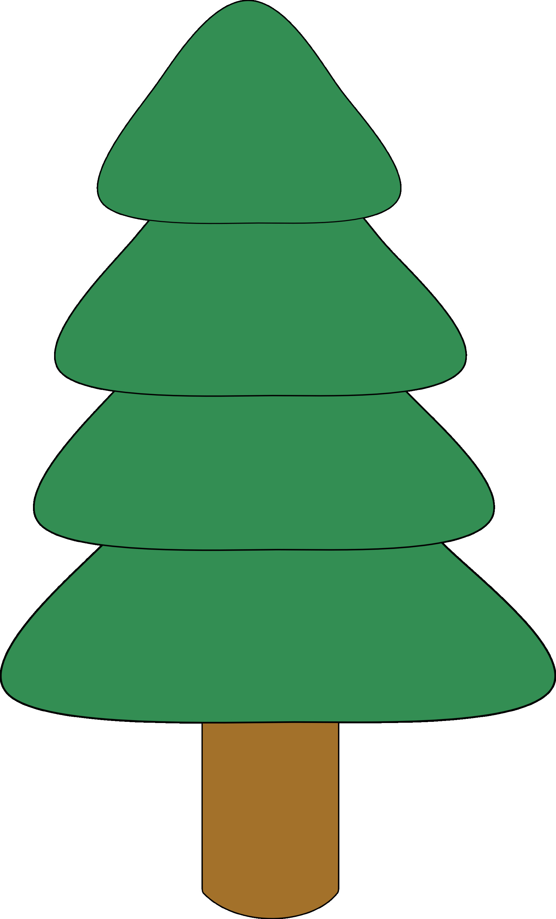 1871x3095 Transparent Deco Christmas Tree With Gifts Clipart Gallery Simple