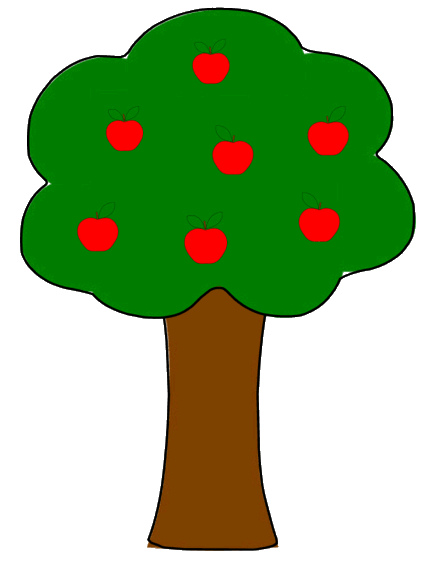 428x568 Apple Tree Clipart Apple Tree Simple Sketch Clipart Panda Free