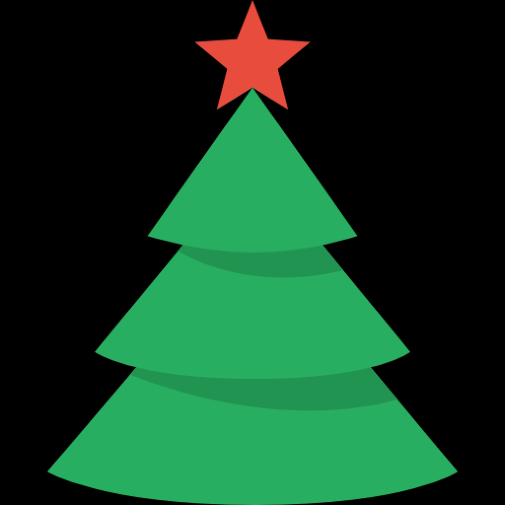 1024x1024 Simple Christmas Tree Icon Png Clipart Image Iconbugbest Png