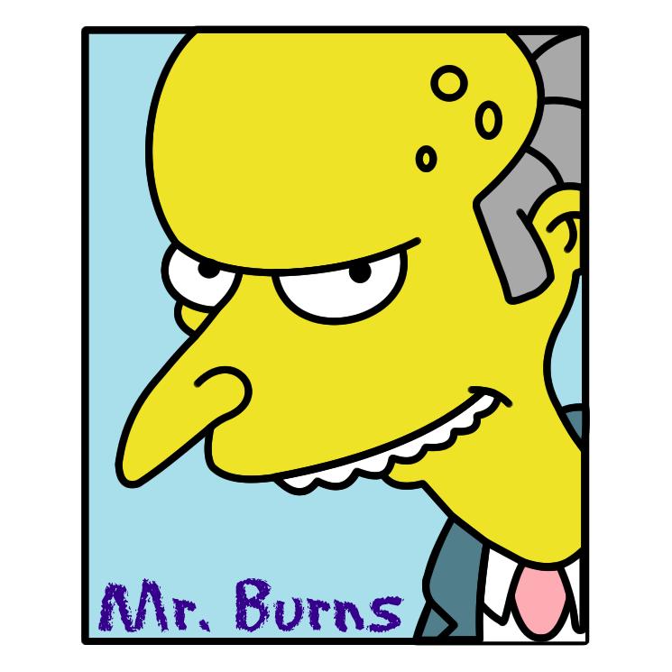 745x745 Simpsons Mr Burns Free Vector 4vector