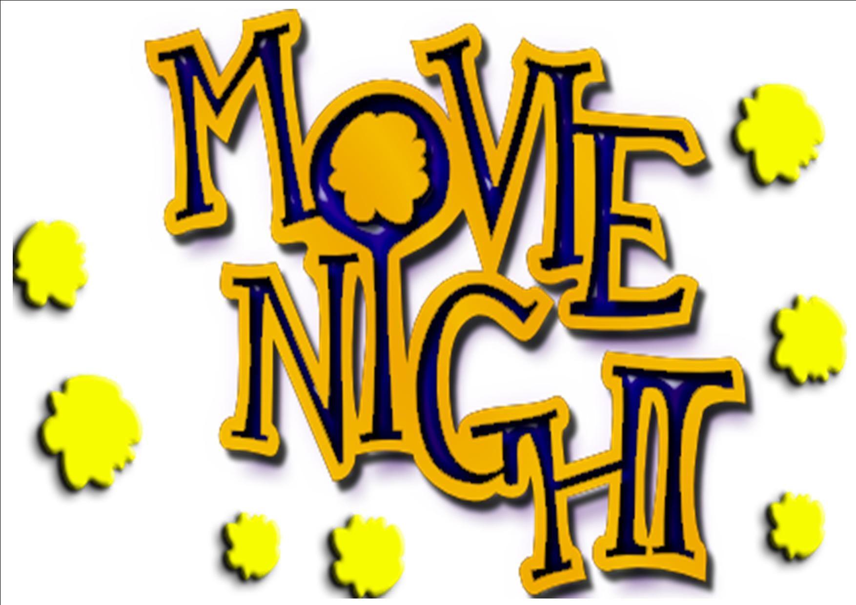 1754x1240 Movie Night Clipart