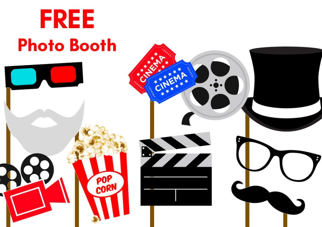 1083x763 Free Printable Party Photobooth Props Movie Party, Free