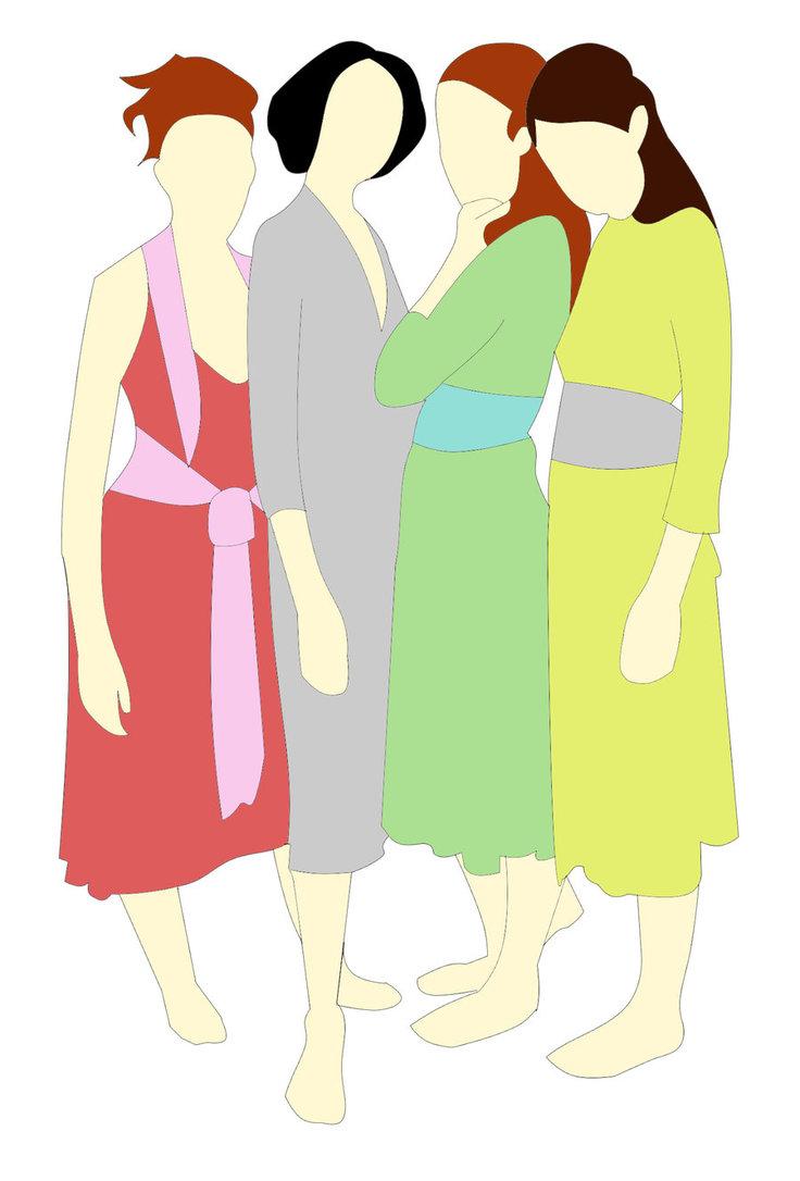 736x1086 Brunette Clipart Sisters