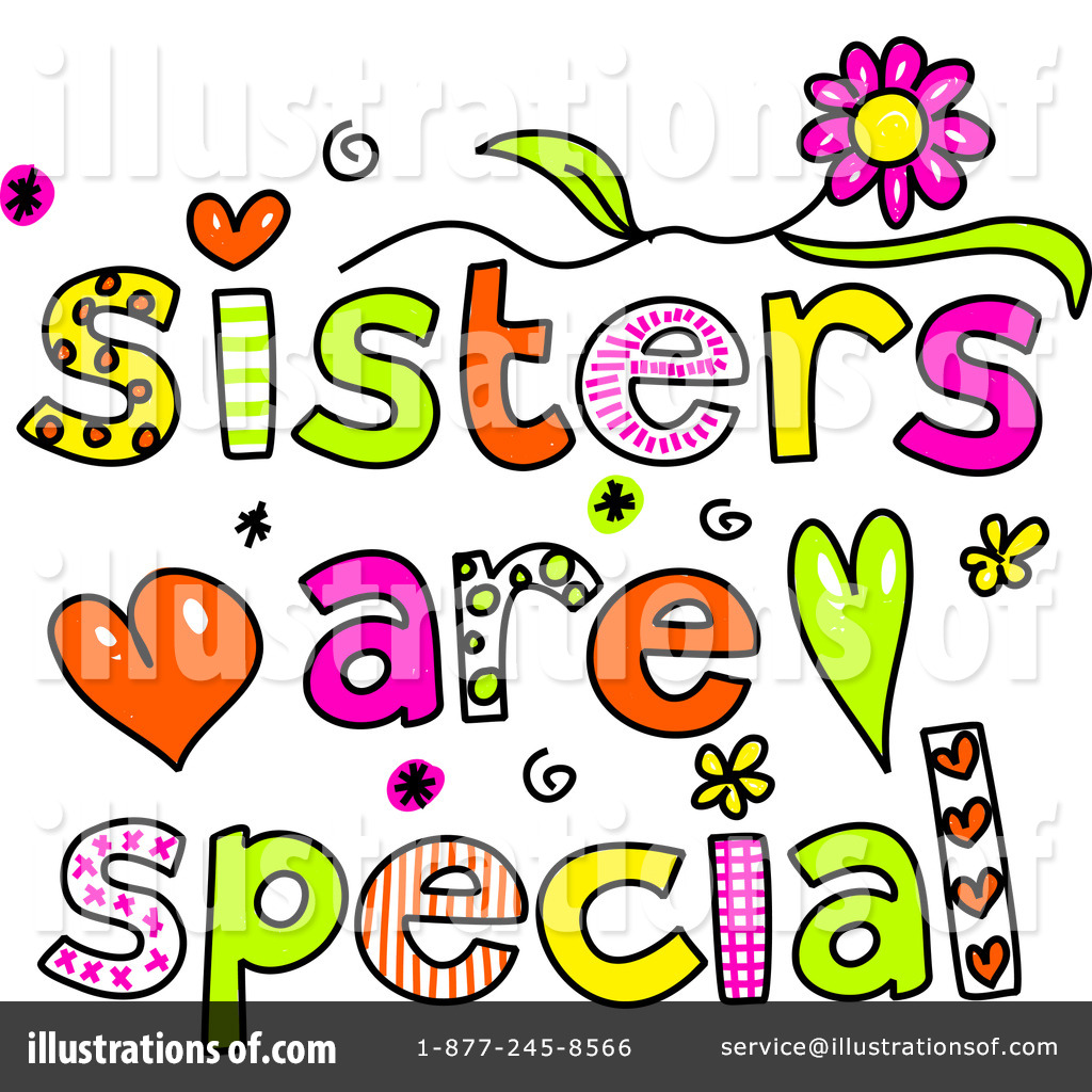 1024x1024 Sisters Clipart