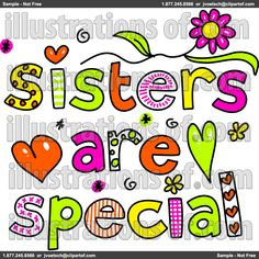236x236 Best Friends And Sisters Clipart