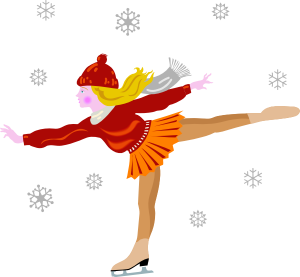 300x277 Figure Skating Clipart Ice Skating Clip Art