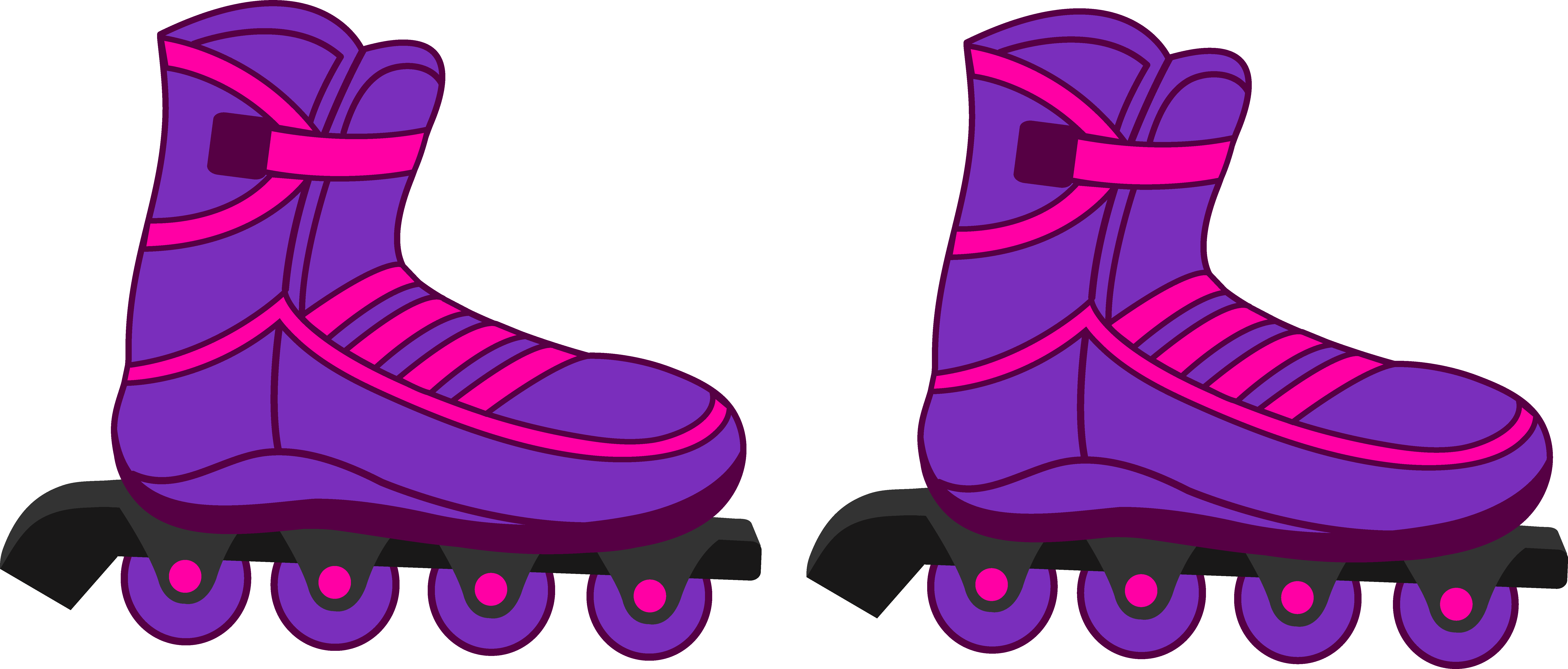 8285x3534 Image Result For Simple Inline Skates Clipart Cake Decorating