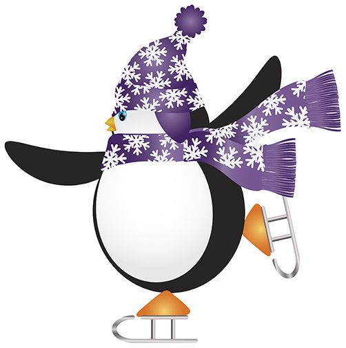 502x504 Penguin On Ice Clip Art Skating Penguin Clipart Cliparthut
