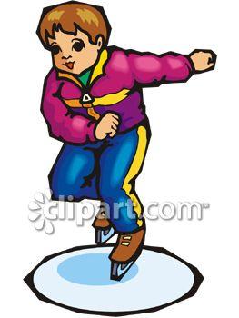 263x350 Royalty Free Clipart Image Boy Ice Skating