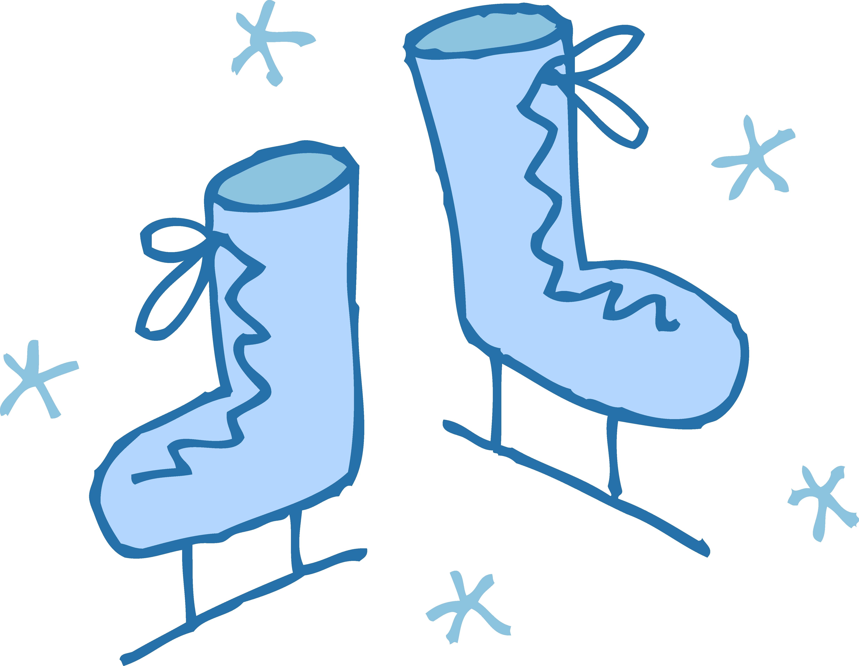 4919x3809 Unique Ice Skating Clipart Design