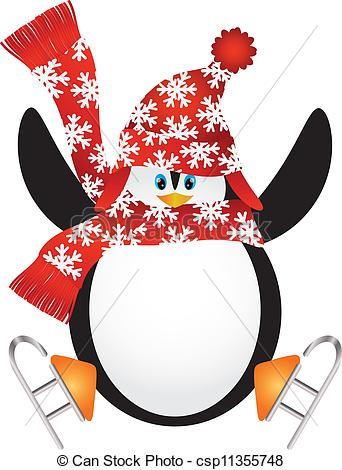 342x470 Christmas Skates Clipart