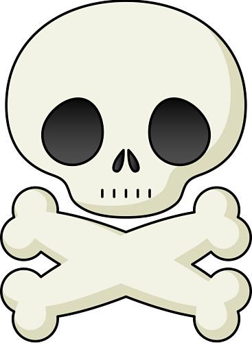 367x500 Skull And Crossbone Clipart