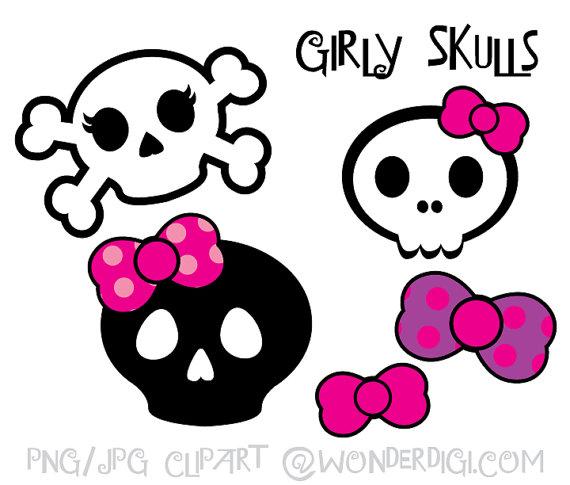 570x485 Skulls Clipart Girlie Skulls Clip Art