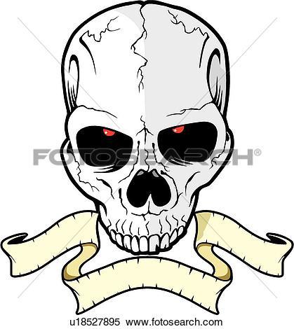 419x470 Death's Skull Clipart