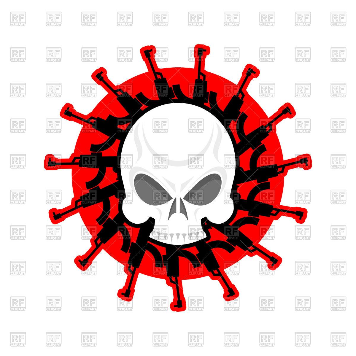 1200x1200 Skull And Guns