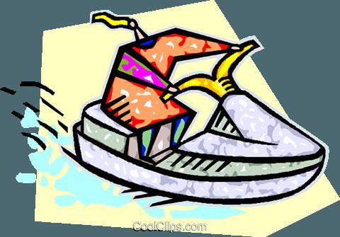 480x335 Person Riding A Sea Doo Royalty Free Vector Clip Art Illustration