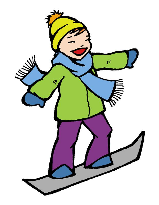 621x800 Skiing Snowboarding Clipart