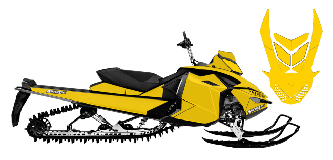 650x312 Solid Color Wraps Designs For Skidoo