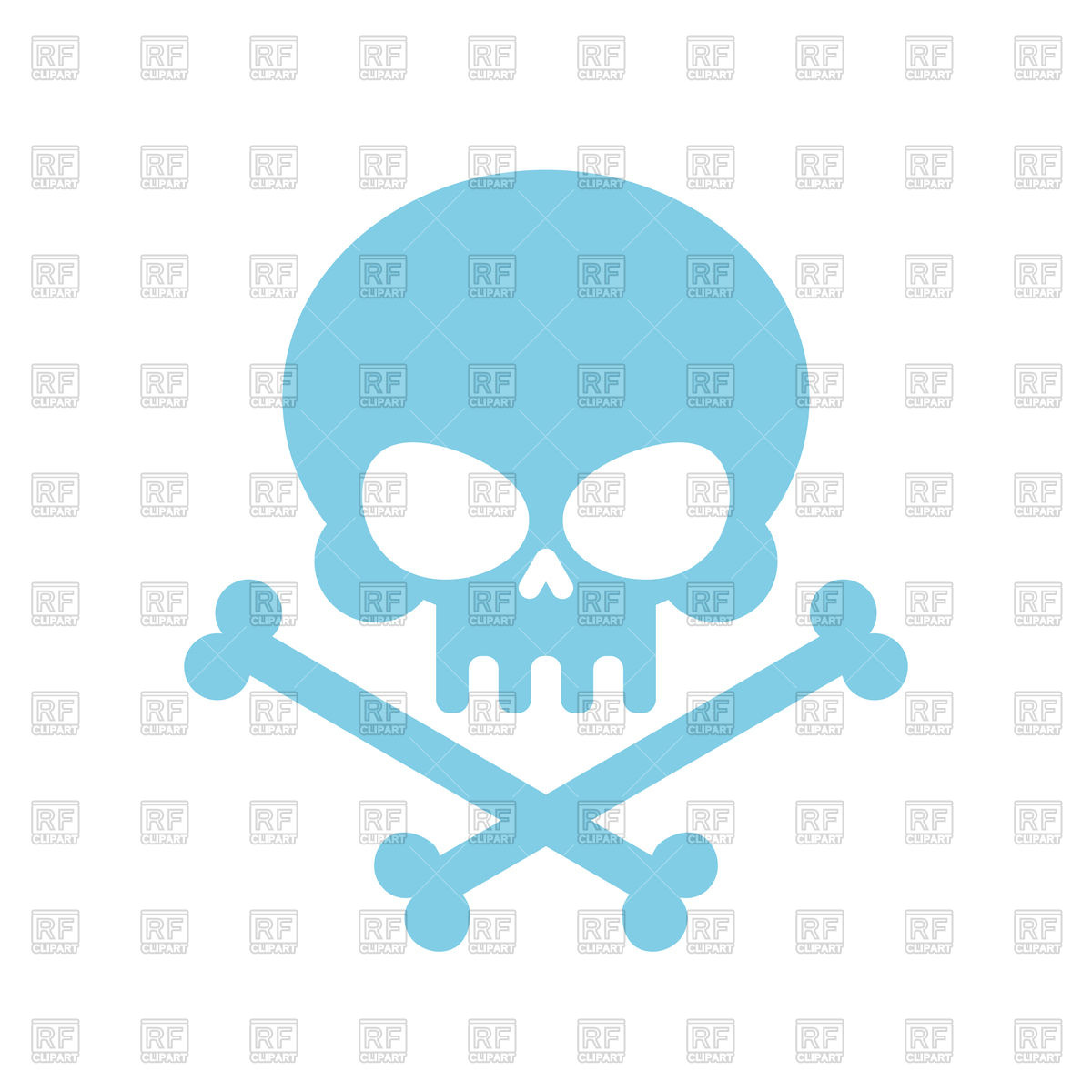 1200x1200 Cute Skull With Bones Royalty Free Vector Clip Art Image