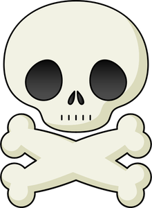 220x300 15305 Skull And Bones Clip Art Public Domain Vectors