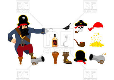 400x282 Pirate Objects Set