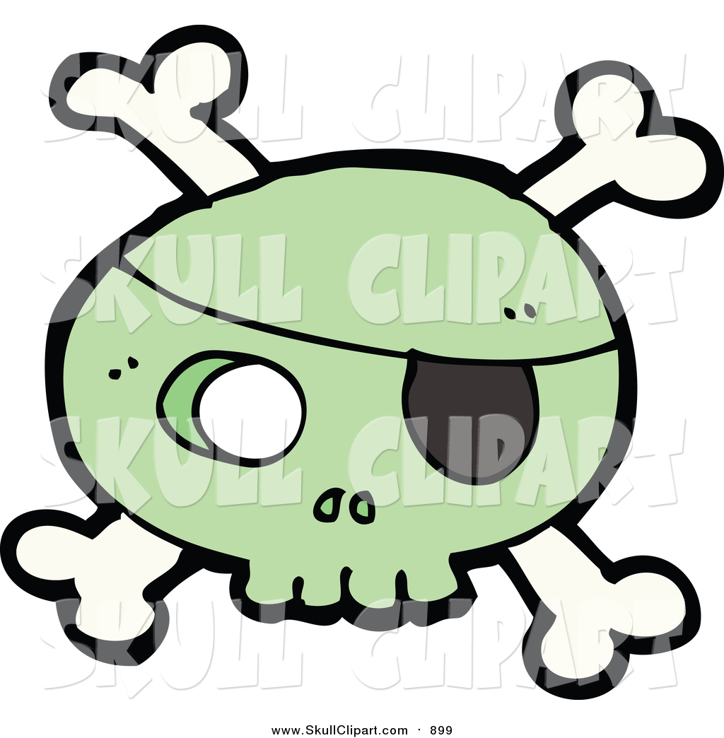 1024x1044 Vector Clip Art Of A Green Pirate Skull And Crossbones By
