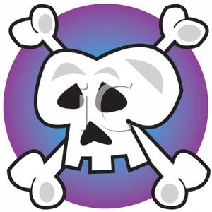 300x300 Clip Art Image A Skull And Cross Bones Tattoo