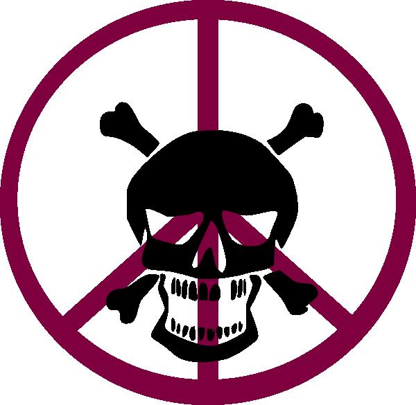 600x585 Peace Skull Clip Art