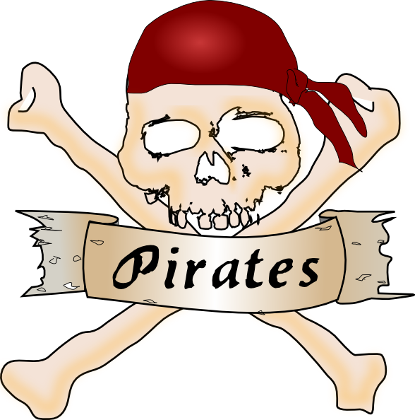 588x594 Pirate Skull And Crossbones Clip Art