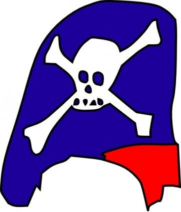 362x425 Pirate Skull And Bones Clip Art Free Vector For Free Download